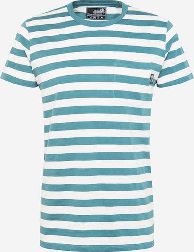 Hailys Men T-Shirt 'Malik' in aqua / offwhite, Produktansicht