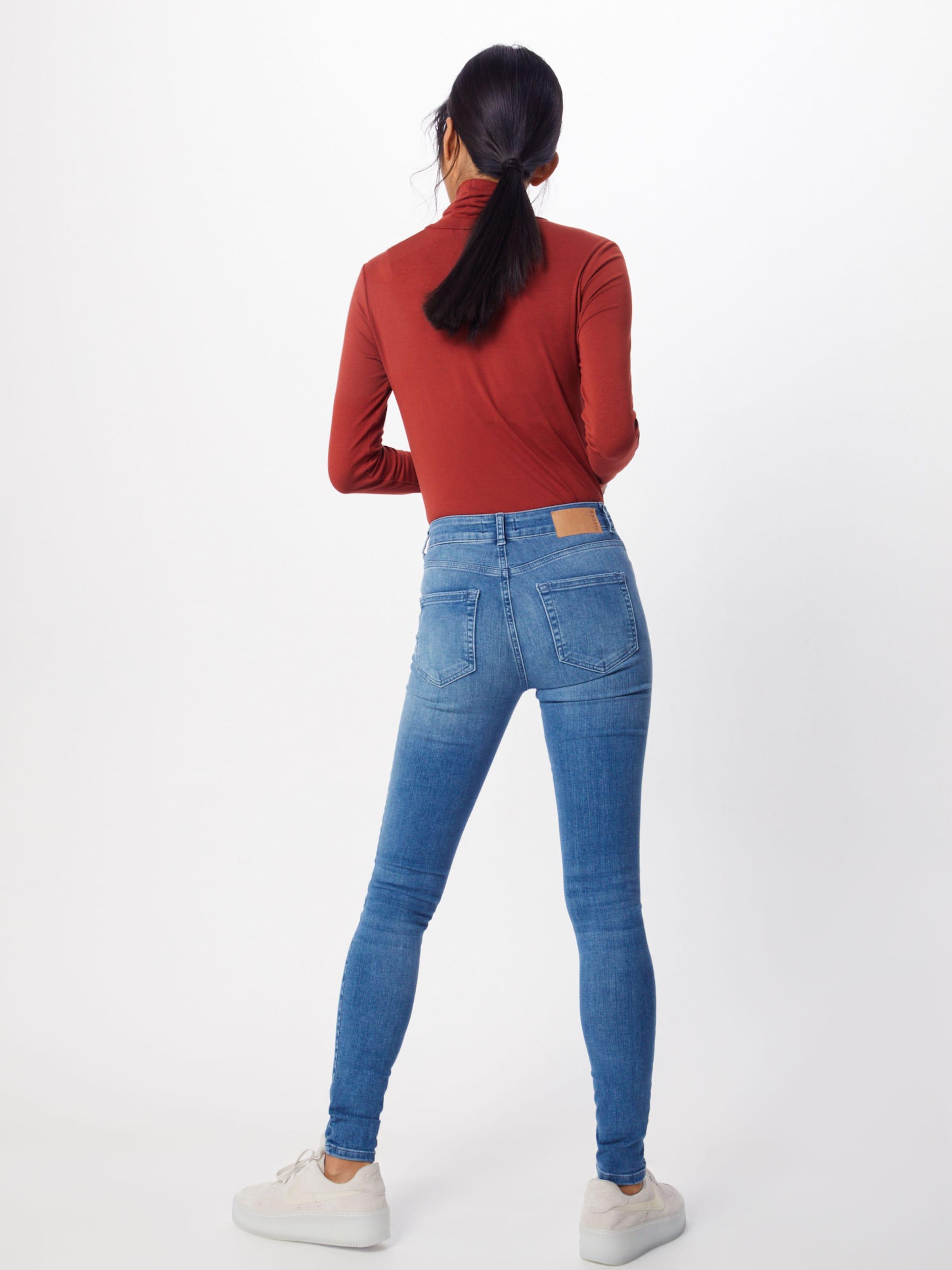 'pcdelly Denim Skn Pieces ba noos' Jeans Mw In Blue Lb124 AjL4R5