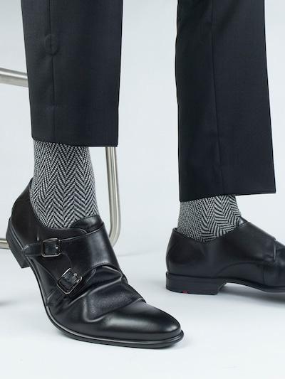 PATRON SOCKS Socken 'Black & White Socks' in schwarz / weiß, Modelansicht