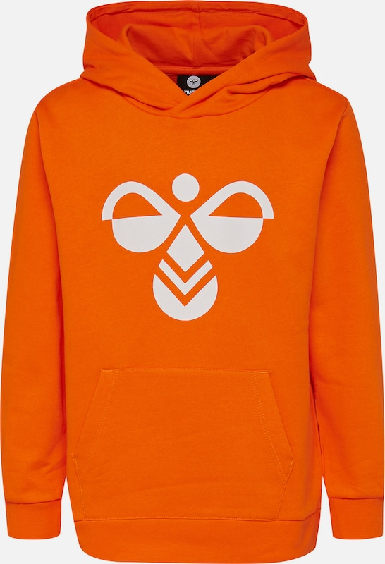 Hummel Kapuzenpullover 'Cool' in orange / weiß, Produktansicht
