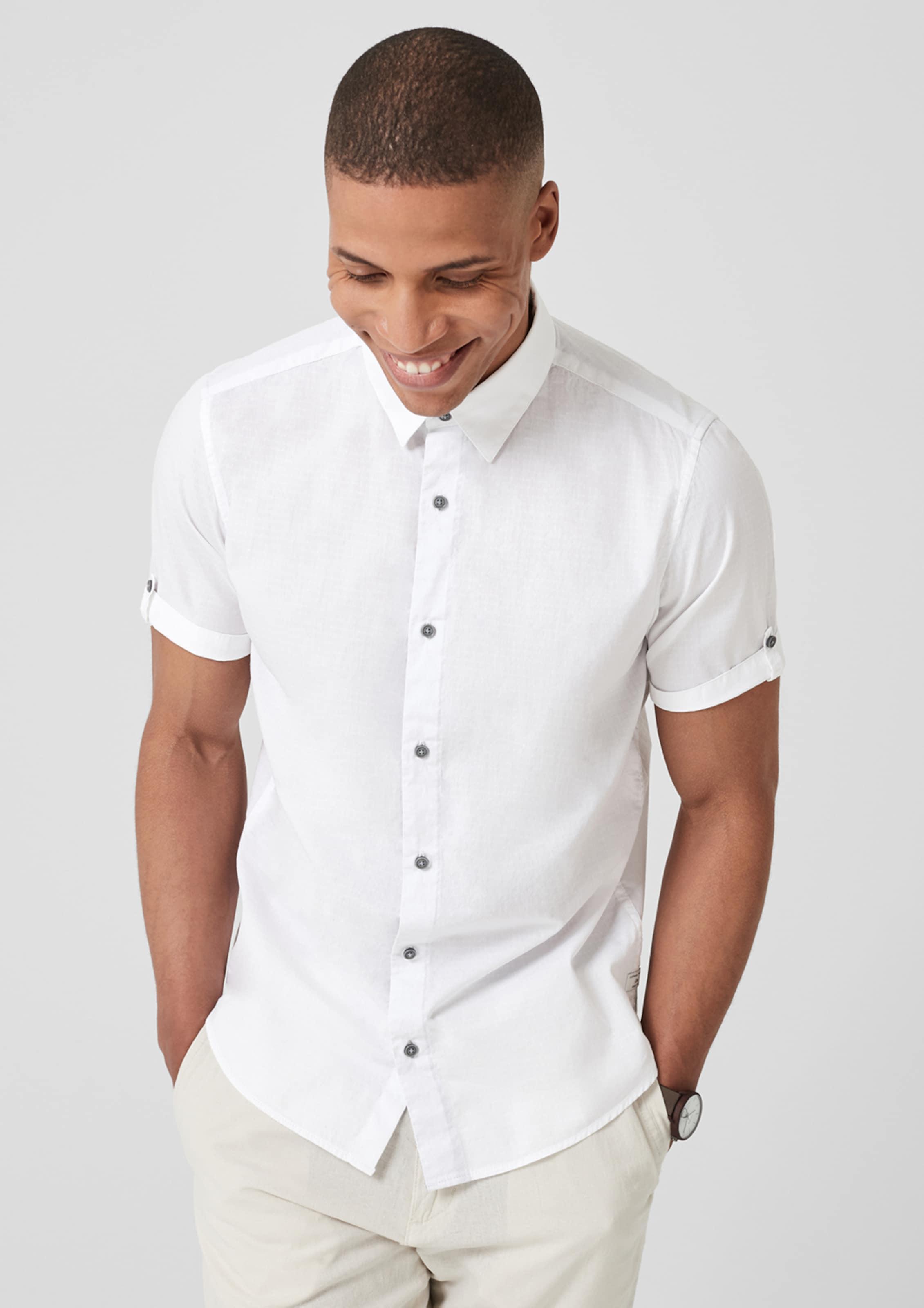 Kurzarmhemd S Label Weiß In SlimStrukturiertes oliver Red K31JTlFc
