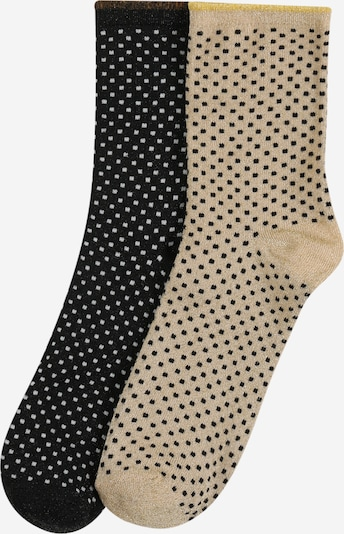 BeckSöndergaard Socken 'Dina Small Dots' in sand / schwarz, Produktansicht