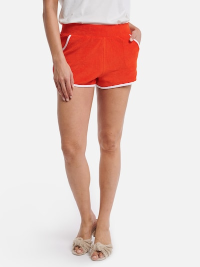 Shiwi Badeshorts 'Ladies terry short' in rot, Modelansicht
