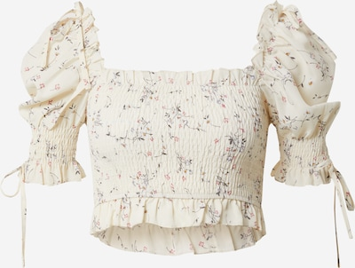 Missguided Bluse 'Ditsy' in sand, Produktansicht
