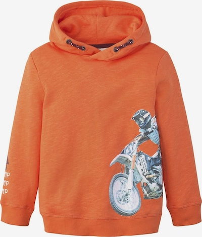 TOM TAILOR Strick & Sweatshirts Hoodie mit Print in orange, Produktansicht
