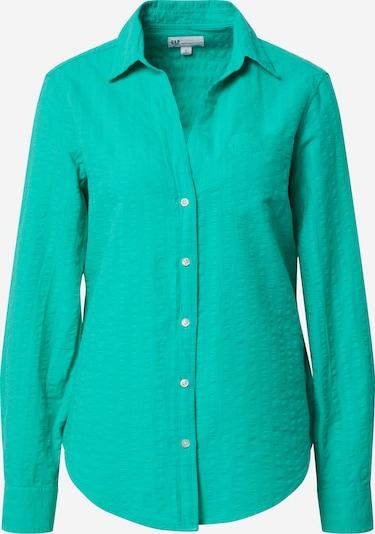 GAP Bluzka 'LS PERFECT SHIRT - SEERSUCKER SLD' w kolorze neonowa zieleńm, Podgląd produktu