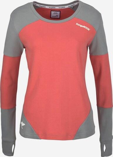KangaROOS Sweatshirt in grau / koralle / weiß, Produktansicht