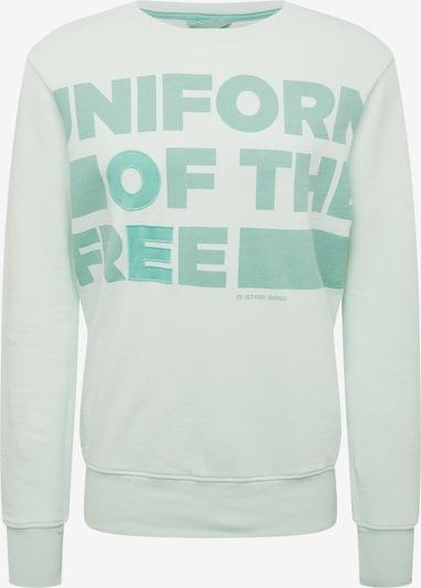 G-Star RAW Sweatshirt 'Graphic core 3 r sw l\s' in de kleur Mintgroen, Productweergave