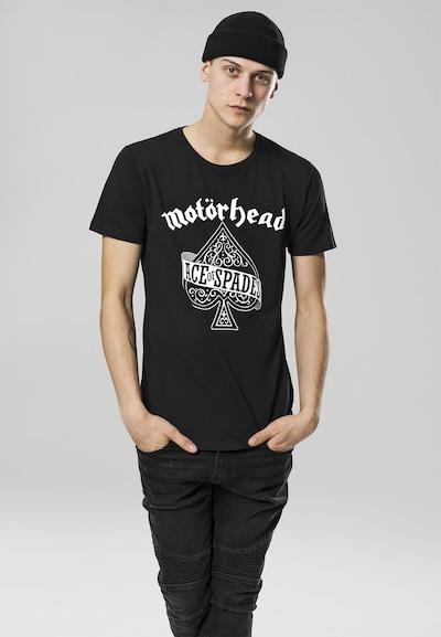 Mister Tee T-Shirt 'Motörhead Ace of Spades' in schwarz / weiß: Frontalansicht