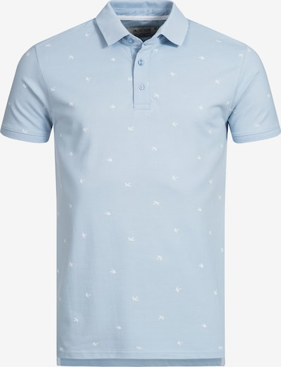 INDICODE JEANS T-Shirt 'Hampden' en bleu clair / blanc: Vue de face