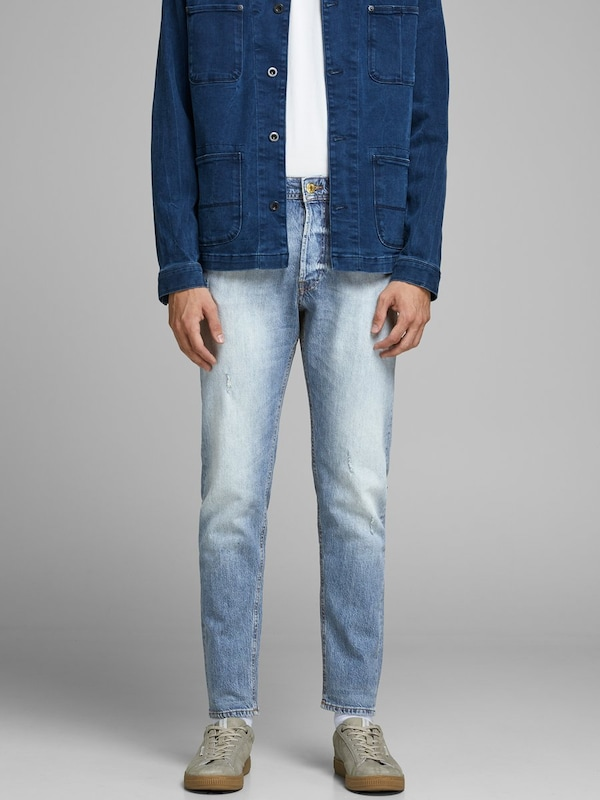 JACK & JONES FRED ORIGINAL JJ 174 AW24 Tapered Fit Jeans in blau: Frontalansicht