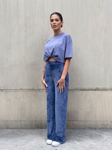 Blue Velvet Look by AY LIMITED x MIMOZA