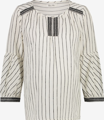 QUEEN MUM Blouse 'Blouse ls' in Wit