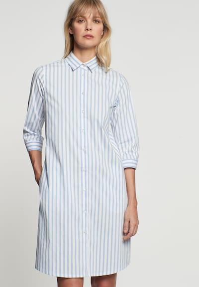 SEIDENSTICKER Kleid 'Schwarze Rose' in rauchblau / weiß, Modelansicht