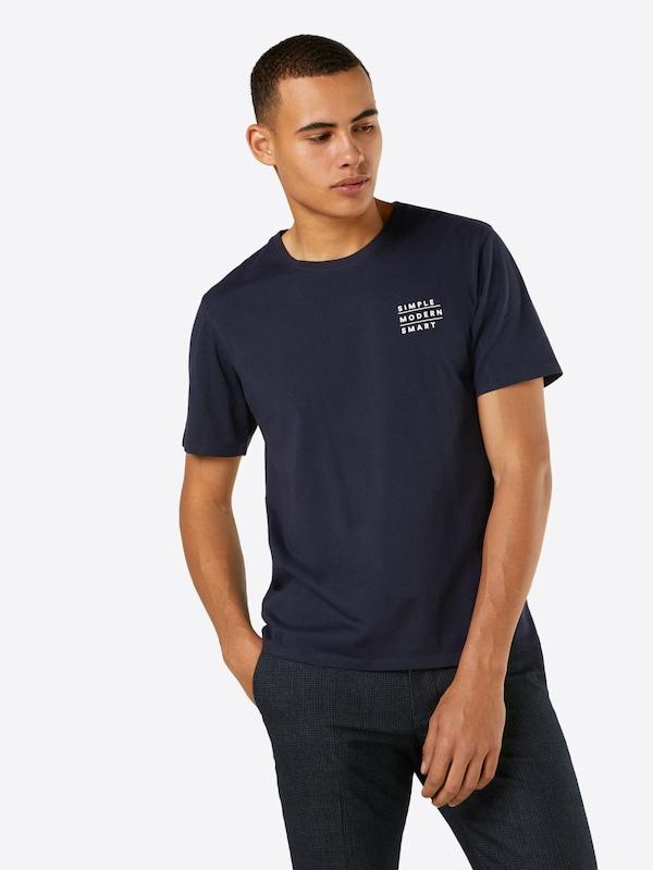 Nowadays shirt T FoncéBlanc En Bleu VpSzUM