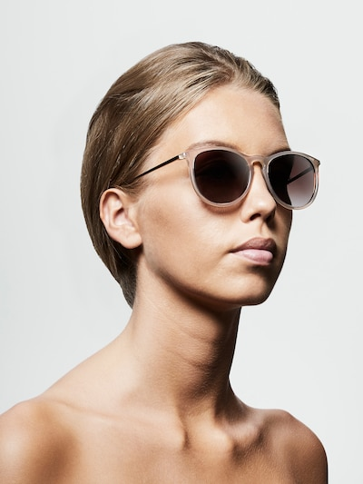 Pilgrim Sonnenbrille 'Vanille' in beige: Frontalansicht