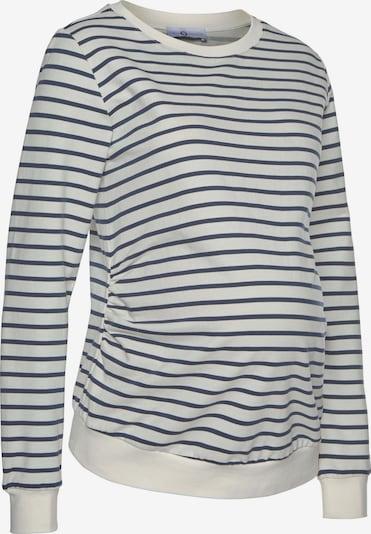 Neun Monate Sweatshirt in creme / navy, Produktansicht