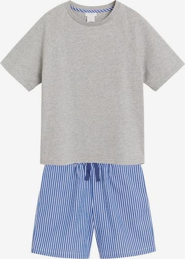 MANGO KIDS Pyjama in blau / graumeliert, Produktansicht