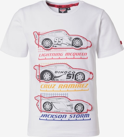 DISNEY T-Shirt 'Cars' in mischfarben / weiß, Produktansicht