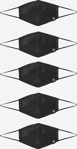 Grubenhelden Näomask 'Kohleoptik', värv must