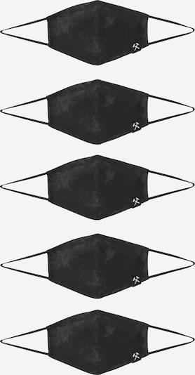 Grubenhelden Maska z materiału 'Kohleoptik' w kolorze czarnym, Podgląd produktu