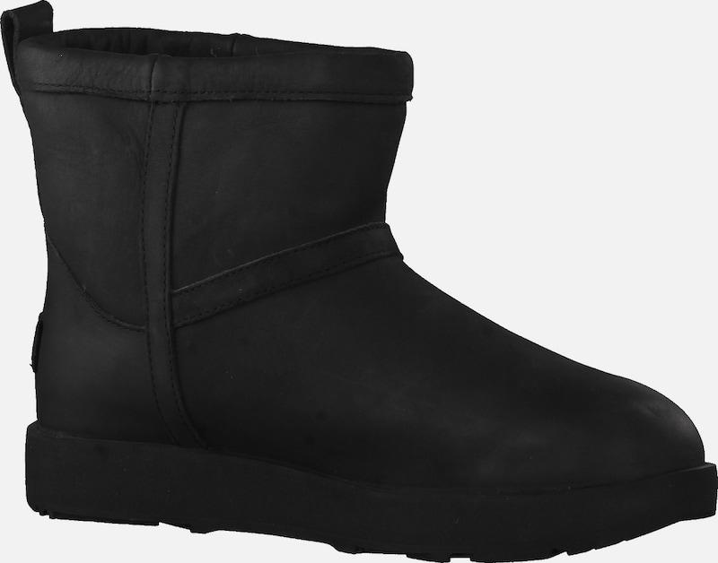 UGG Boots Classic Mini Leather Waterproof mit Lammfellfutter 1019641-BLK