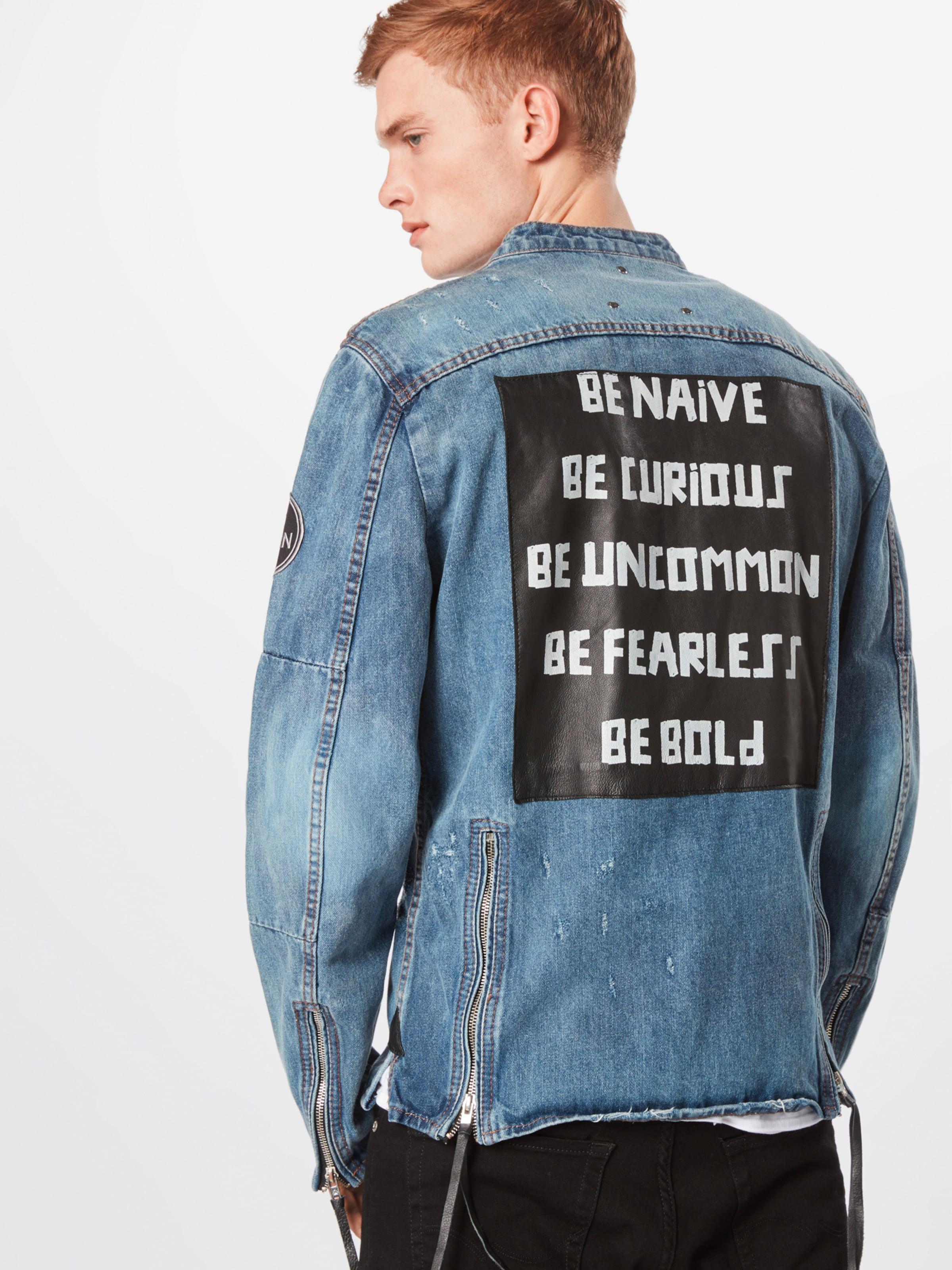 'bephil Be D' Bleu Edgy saison Mi Denim Veste En gv7Ybf6y