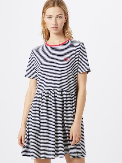 Tommy Jeans Kleid in navy / weiß, Modelansicht