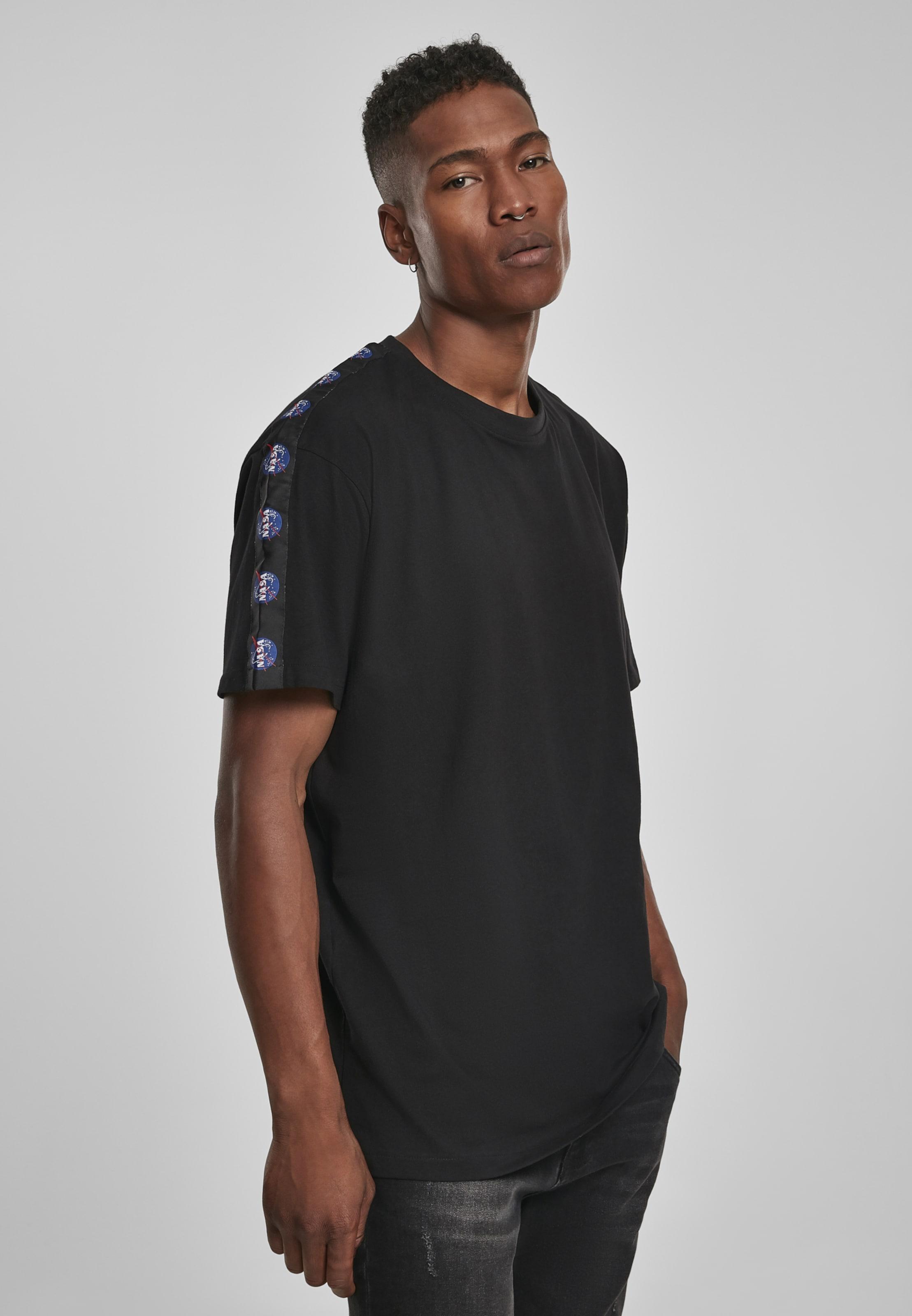 Mister Tee Shirt 'NASA' in blau / dunkelrot / schwarz / weiß Jersey MT869-00007-0042
