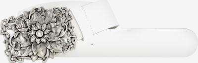 heine Ledergürtel in silber / weiß, Produktansicht