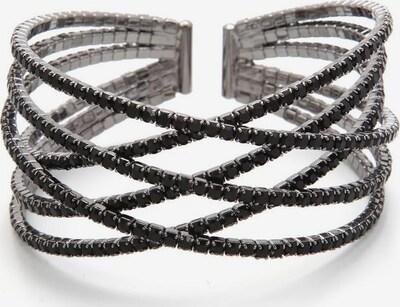 J. Jayz Armspange 'Wellen' in silbergrau / schwarz, Produktansicht