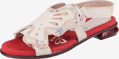 Corley originals Sandale in rot / naturweiß, Produktansicht