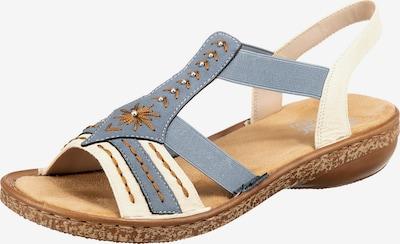 RIEKER Klassische Sandale in blau / weiß, Produktansicht