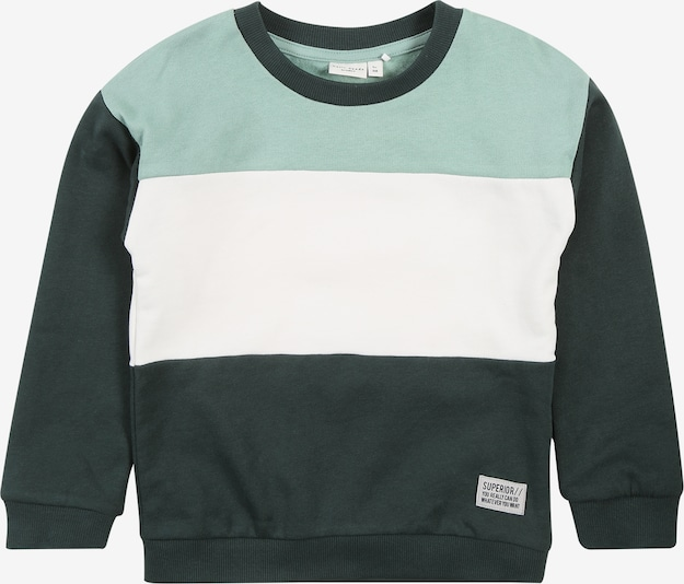 NAME IT Sweatshirt in jade / tanne / weiß, Produktansicht