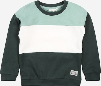NAME IT Sweatshirt in jade / tanne / weiß, Produktansicht