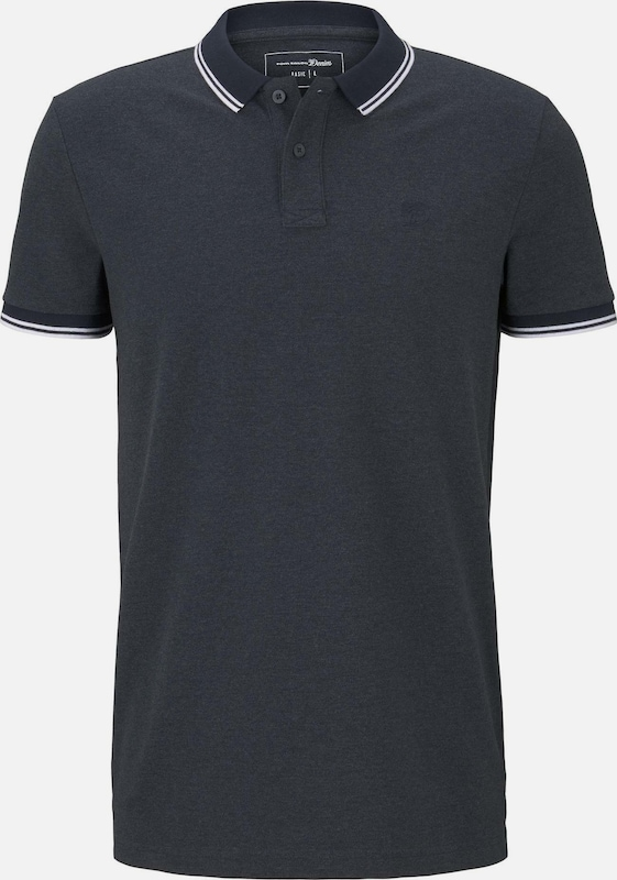 TOM TAILOR DENIM Poloshirt in blau, Produktansicht
