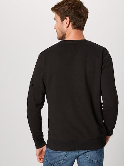 ALPHA INDUSTRIES Sweat-shirt en vert foncé / noir: Vue de dos