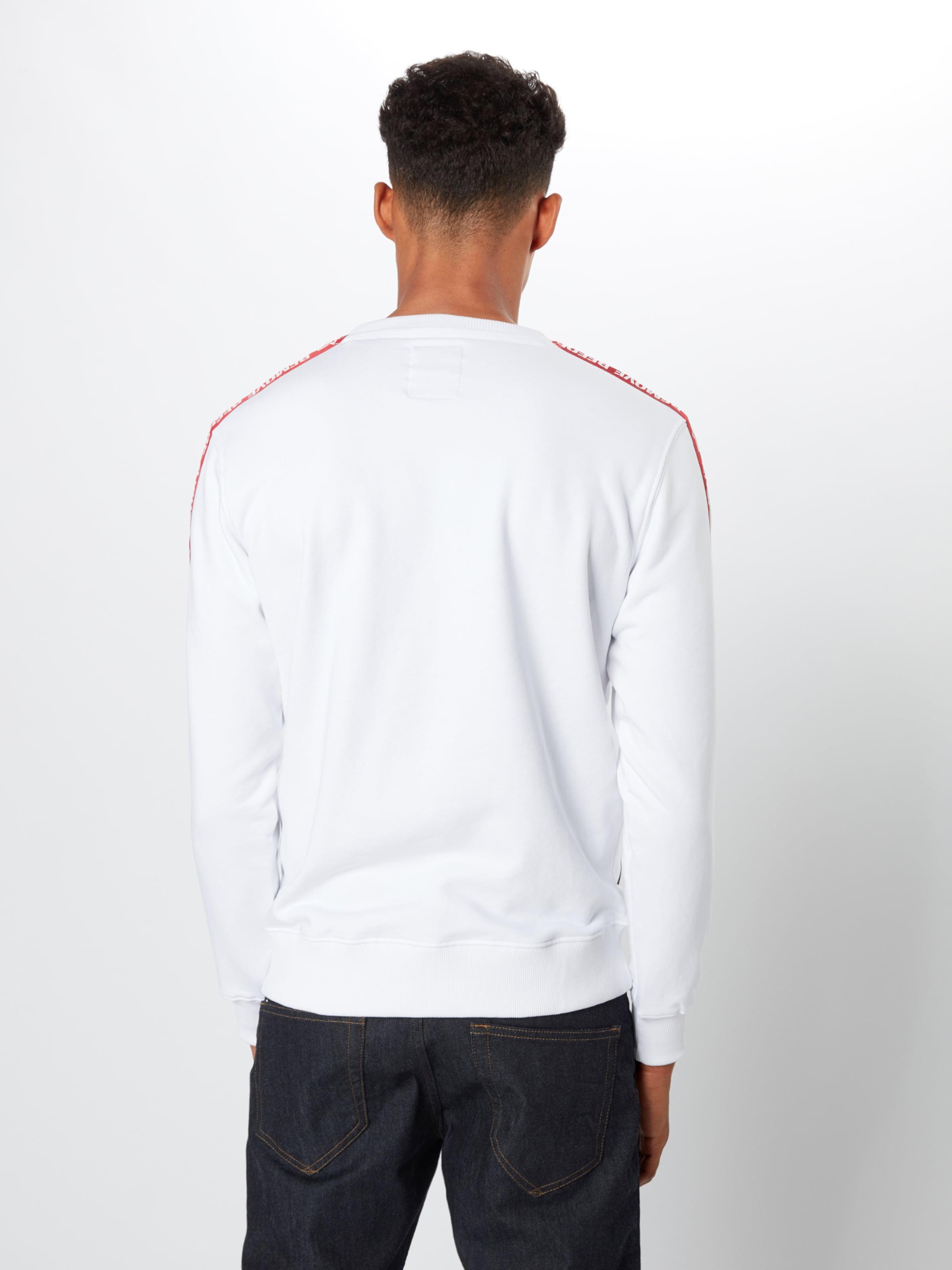 Alpha shirt Industries En Sweat RougeBlanc 3jR4A5L