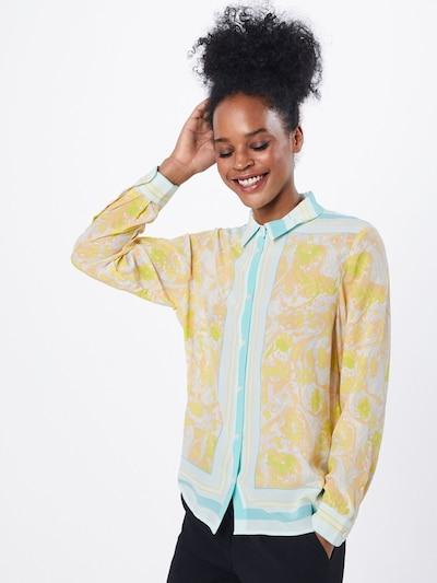 Samsoe Samsoe Chemisier 'Alessandra' en jaune / blanc, Vue avec modèle