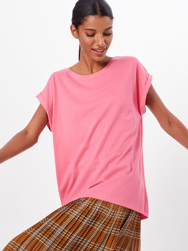 Urban Classics Curvy Shirt in pink: Frontalansicht