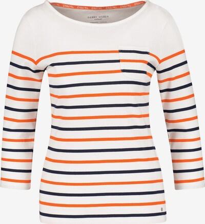 GERRY WEBER Shirt in blau / orange / weiß, Produktansicht