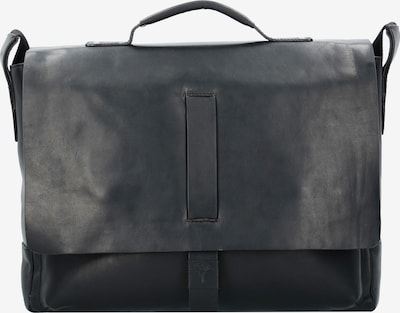 JOOP! Loreto Kreon Messenger Businesstasche Leder 39 cm Laptopfach in schwarz: Frontalansicht