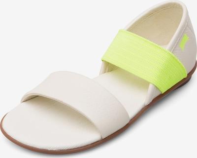 CAMPER Sandalen 'Right' in de kleur Crème / Neongeel, Productweergave