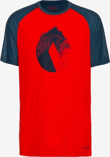VAUDE Funktionsshirt 'Tekoa' in dunkelblau / dunkelrot, Produktansicht