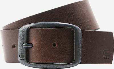 G-Star RAW Ledergürtel 'ladd' in dunkelbraun / basaltgrau, Produktansicht