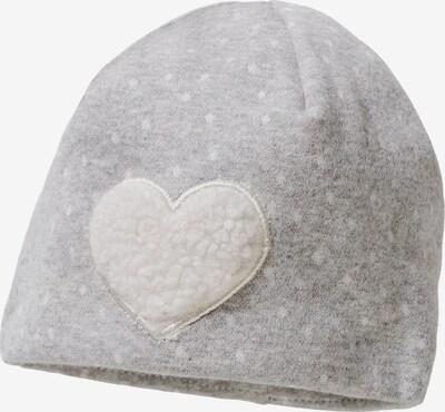 STERNTALER Mütze in graumeliert / wollweiß, Produktansicht