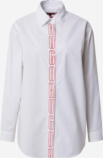 Bluză 'Efea' HUGO pe roșu / alb, Vizualizare produs