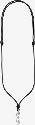BRUNO BANANI Kette 'Surfbrett' in schwarz / silber, Produktansicht