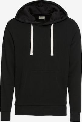 Sweat-shirt 'JJEHOLMEN SWEAT HOOD NOOS' - JACK & JONES en noir