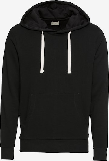 JACK & JONES Sweatshirt 'JJEHOLMEN SWEAT HOOD NOOS' in de kleur Zwart, Productweergave
